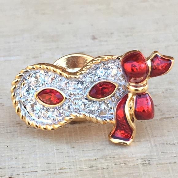 Swarovski masquerade brooch